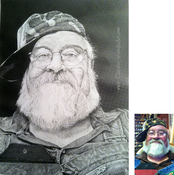 Exceptionnel Bearded Man With Hat Pencul Drawing Tom Mike