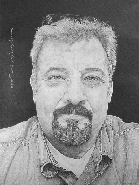 Genial Jim Kitchens Pencil Portrait Mike Kitchens 9222013