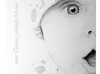 Hand Drawn Pencil Portrait of Baby