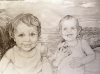 boys-beach-vacation-pencil-drawing-mike-kitchens-2012