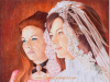 bride-bridesmaid-colored-pencil-drawing-pat-mike-kitchens-2012