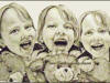 girl-laughing-with-teddy-bear-pencil-drawing-clairebear-mike-kitchens-2012