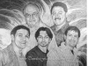 Pencil Portrait of Family