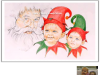 santa-and-elves-colored-pencil-drawing-mike-kitchens-2011