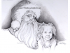 santa-and-little-girl-pencil-portrait-drawing-mike-kitchens-2011