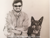 Emily Beck Man & Dog Pencil Drawing