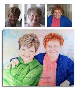 God's Blessings - Sketch Portraits - Timeless Family Art