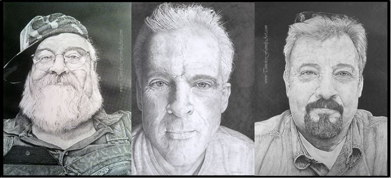 Family Sketch Portrait of Brothers in Fort Worth, TX - Timeless Family Art