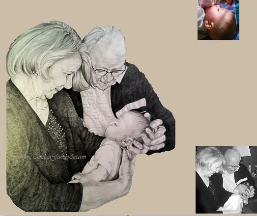 Family Sketch Portraits in Fort Worth, TX | Timeless Family Art