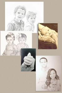 Special and Unique Gift Idea for Christmas   Sketch Portraits in Fort Worth   Timeless Family Art
