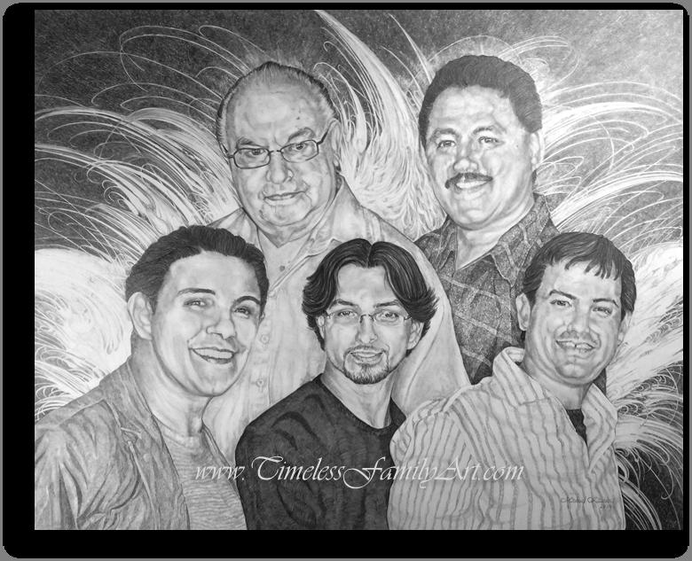 Family Men Pencil Portrait Carranza- Mike Kitchens 2014 (2)