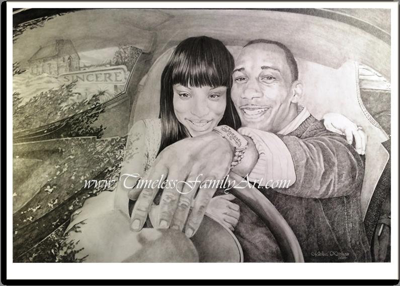 Merveilleux Endless Futures Bu0026W Pencil Portrait Marci Thrasher U2013 Mike Kitchens 0727014  Post