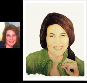 Complexion Radiant Lisa Weldon Color Pencil Portrait Posted - Mike Kitchens 08042014