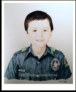 Tough Like Jack Color Pencil Portrait Timeless Family Art 05302015