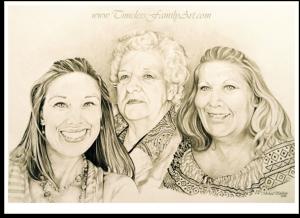 Ms. Horner Teacher Pencil Portrait Mike Kitchens 06032015