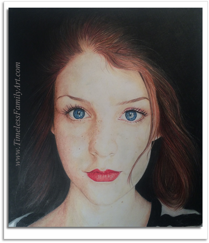 Color Pencil  Pastel Gabby Slape by Mike Kitchens 11282015
